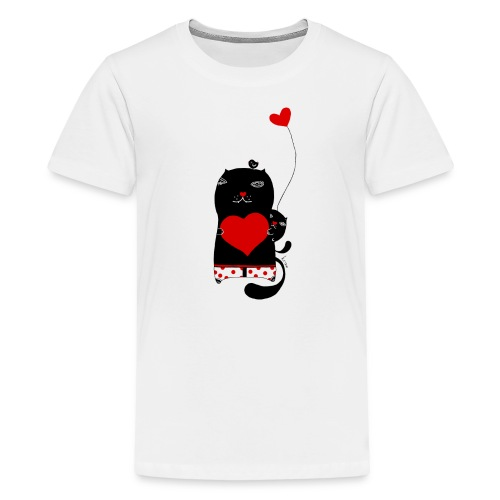 Cats with Hearts Kids Tee - Kids' Premium T-Shirt