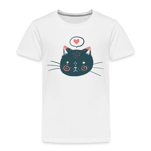 Cat Face Toddler Tee - Toddler Premium T-Shirt