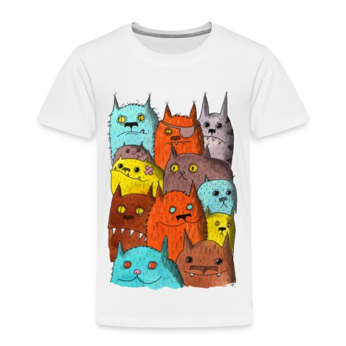 The Cats of Meow Toddler Tee - Toddler Premium T-Shirt