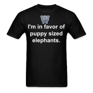 T-Shirts ~ Men's T-Shirt ~ puppy sized elephants shirt