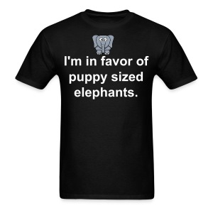 puppy sized elephants shirt - Men's T-Shirt