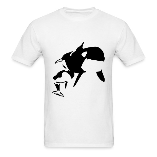 Orca Mother And Calf Design Men's T-Shirt - Men's T-Shirt
