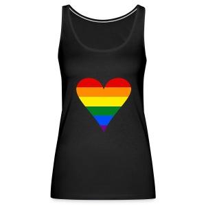 Women's Rainbow Heart Premium Tank - Women's Premium Tank Top