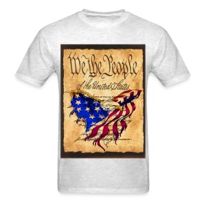 We The People American Eagle Design T-shirt White  - Men's T-Shirt