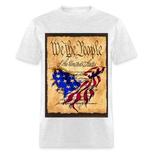 We The People American Eagle Design T-shirt White  - Men's T-Shirt