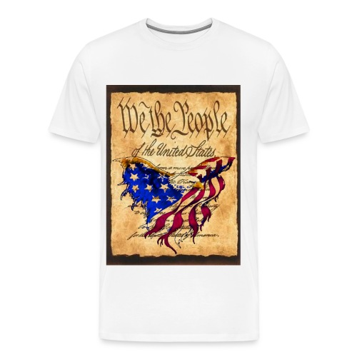 We The People American Eagle Design T-shirt - Men's Premium T-Shirt