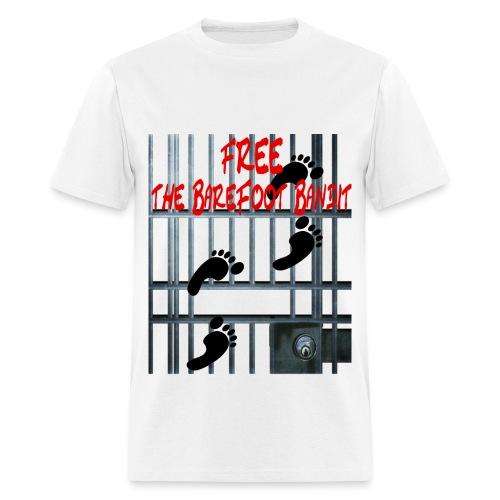 Free The Barefoot Bandit Short Sleeve T-shirt - Men's T-Shirt