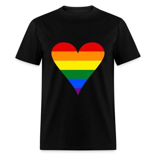 Men's Rainbow Heart T-Shirt - Men's T-Shirt