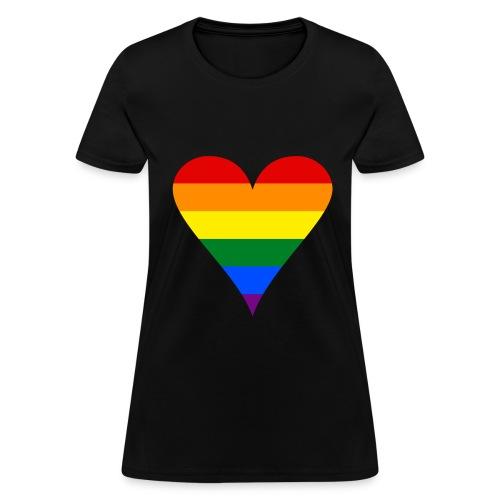 Women's Rainbow Heart T-Shirt - Women's T-Shirt