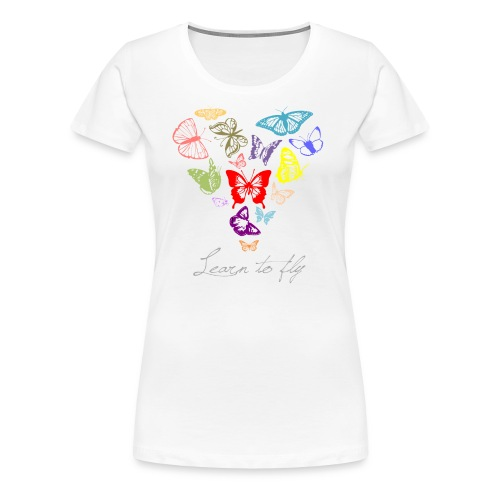 Kantno Learn To Fly Women's Plus-Size T-Shirt - Women's Premium T-Shirt