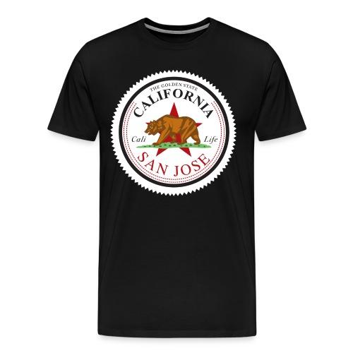 California San Jose Back - Men's Premium T-Shirt