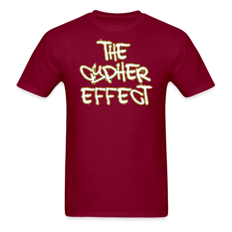 Burgundy TCE Logo Shirt (YELLOW) - Men's T-Shirt