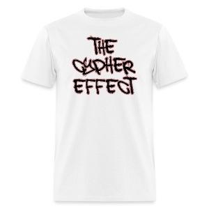 White TCE Logo Shirt (RED) - Men's T-Shirt