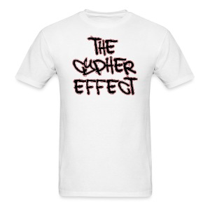 Men's T-Shirt - * The Cypher Effect Logo ( Black Font with White / Red Outline )