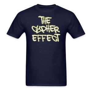Men's T-Shirt - * The Cypher Effect Logo ( White Font with Black / Yellow Outline )