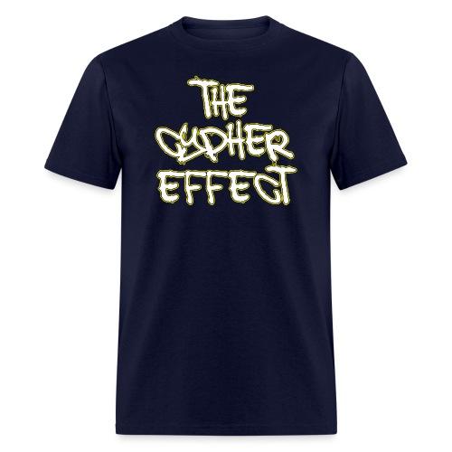 Navy Blue TCE Logo Shirt (YELLOW) - Men's T-Shirt