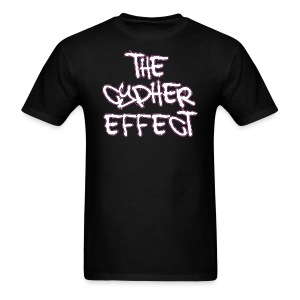 Men's T-Shirt - * The Cypher Effect Logo ( White Font with Black / Pink Outline )
