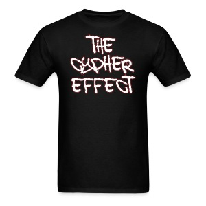 Men's T-Shirt - * The Cypher Effect Logo ( White Font with Black / Red Outline )