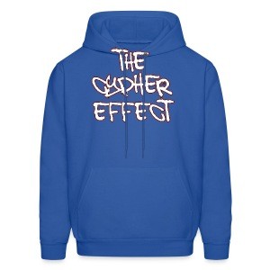 Men's Hoodie - * The Cypher Effect Logo ( White Font with Black / Red Outline )