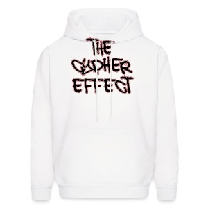 Men's Hoodie - * The Cypher Effect Logo ( Black Font with Black / Red Outline )