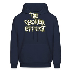 Men's Hoodie - * The Cypher Effect Logo ( White Font with Black / Yellow Outline )
