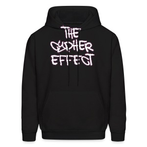 Men's Hoodie - * The Cypher Effect Logo ( White Font with Black / Pink Outline )