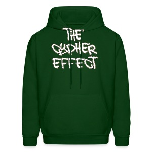 Men's Hoodie - * The Cypher Effect Logo ( White Font with Black / Camo Outline )