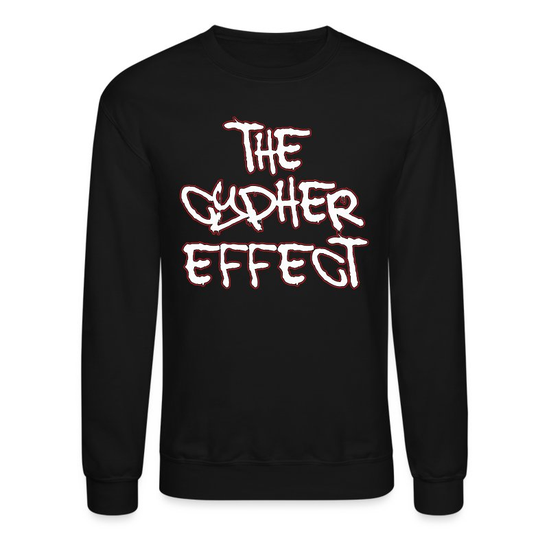 Black TCE Logo Crewneck (RED) - Crewneck Sweatshirt