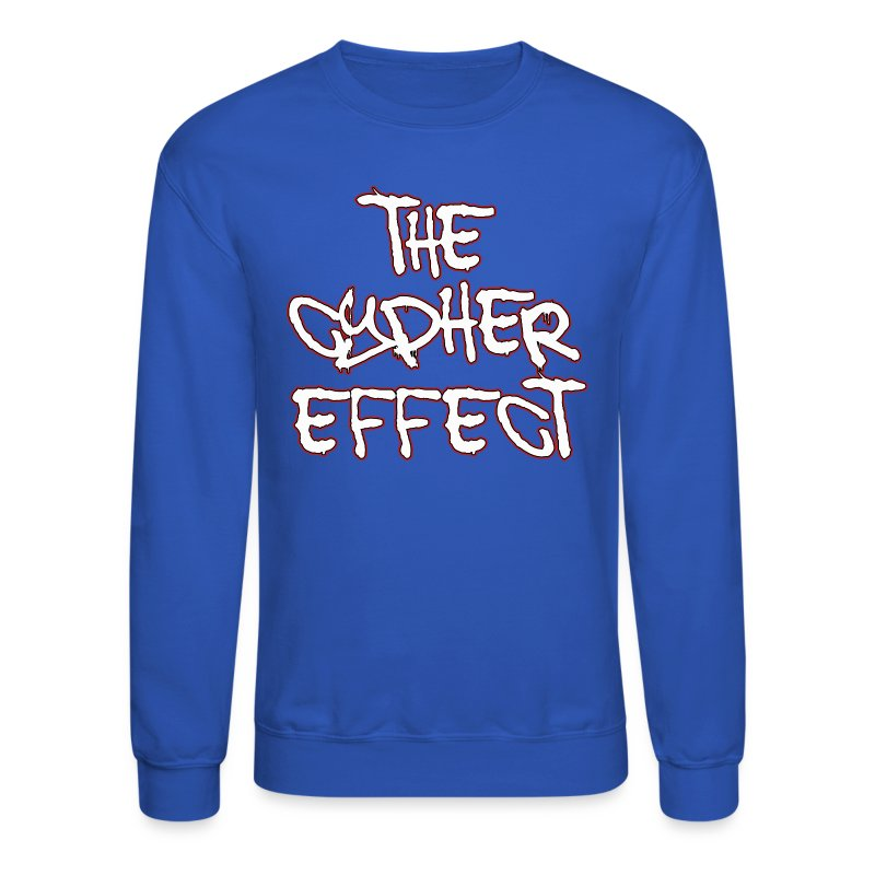 Blue TCE Logo Crewneck (RED) - Crewneck Sweatshirt
