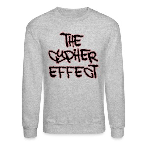 Crewneck Sweatshirt - * The Cypher Effect Logo ( Black Font with Black / Red Outline )