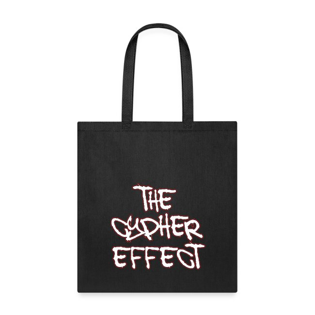 Black TCE Logo Tote Bag (RED)