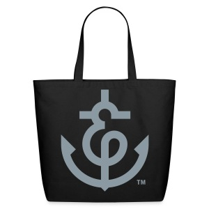WDC Ampersanchor Black Canvas Tote - Eco-Friendly Cotton Tote