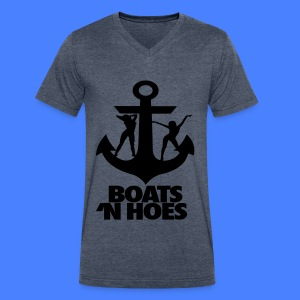 Boats N Hoes T-Shirts - Men's V-Neck T-Shirt by Canvas
