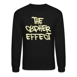 Crewneck Sweatshirt - * The Cypher Effect Logo ( White Font with Black / Yellow Outline )