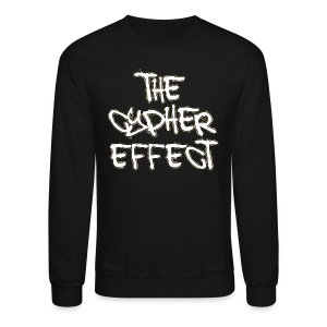 Crewneck Sweatshirt - * The Cypher Effect Logo ( White Font with Black / Camo Outline )