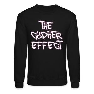 Crewneck Sweatshirt - * The Cypher Effect Logo ( White Font with Black / Pink Outline )