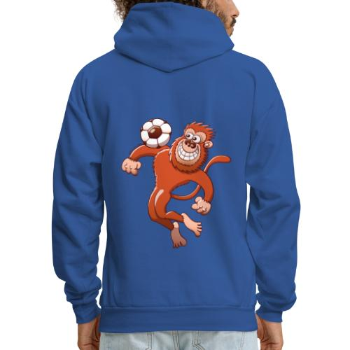 Monkey Trapping a Soccer Ball with its Chest Hoodies - Men's Hoodie