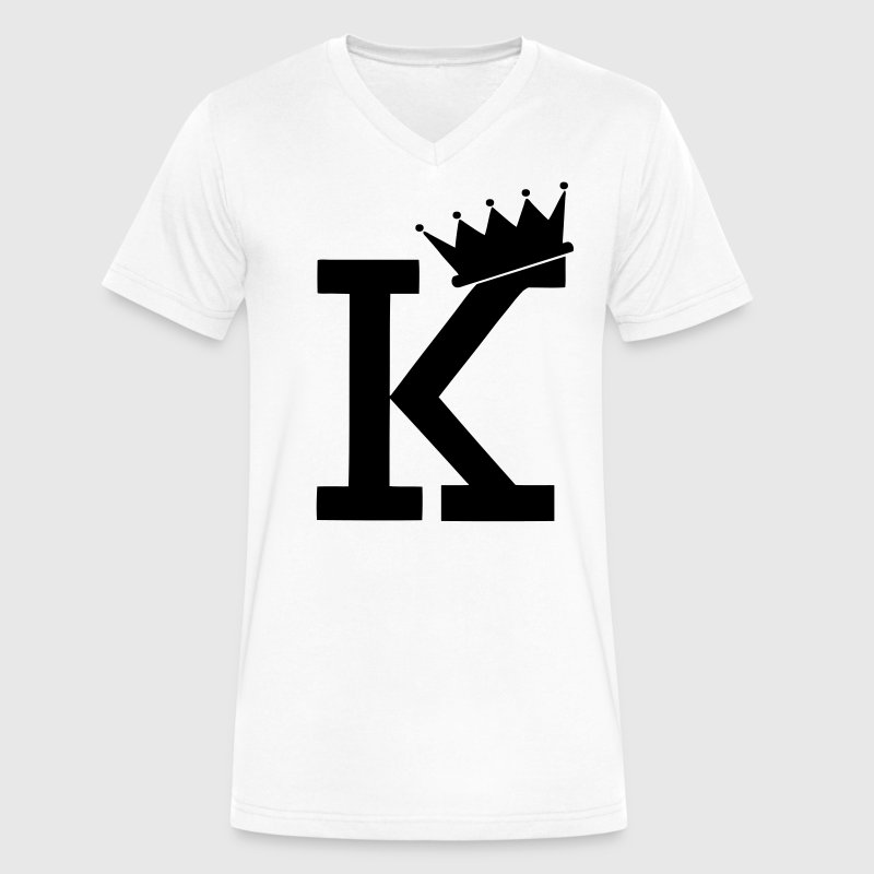 K CROWN T-Shirts - Men's V-Neck T-Shirt by Canvas