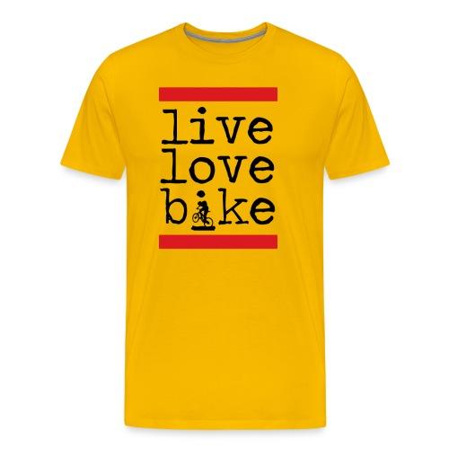 Live Love Bike (Mens) - Men's Premium T-Shirt