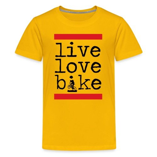 Live Love Bike (Kids) - Kids' Premium T-Shirt