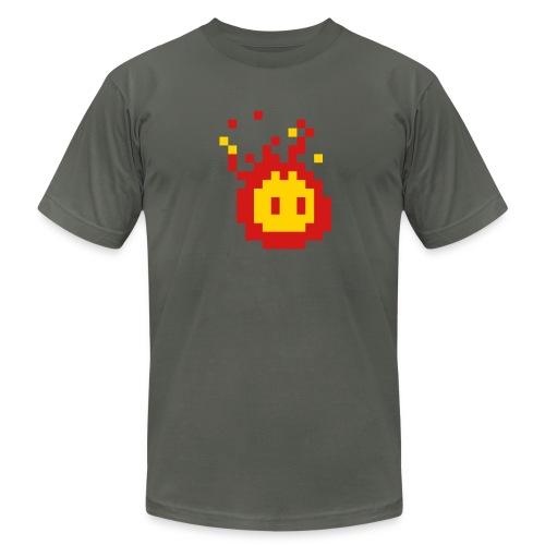 Pixelled Fireball t-shirt - Men's Fine Jersey T-Shirt