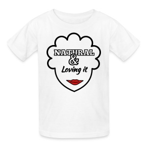Kids' T-Shirt - womens t-shirts,t-shirts,pick,natural hair t-shirts,natural hair,nappy,love,kinky,kids t-shirts,kids,iluvmunaturalbeauty,high top fade,girls,curly,coily,black power,afro