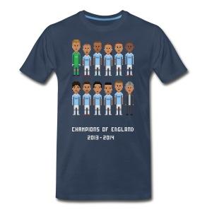 Men T-Shirt - Champions of England 2013-2014 - Men's Premium T-Shirt
