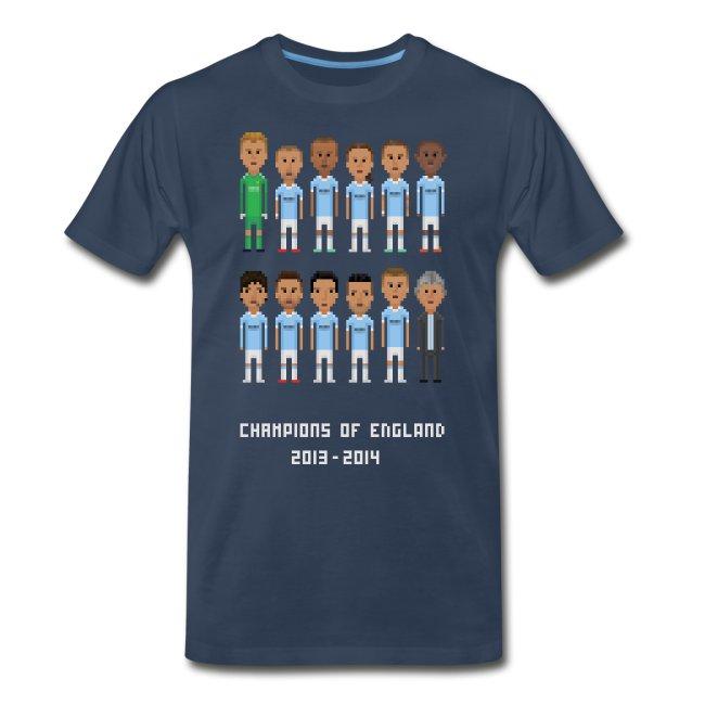 Men T-Shirt - Champions of England 2013-2014