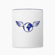 earth with wings Bottles & Mugs
