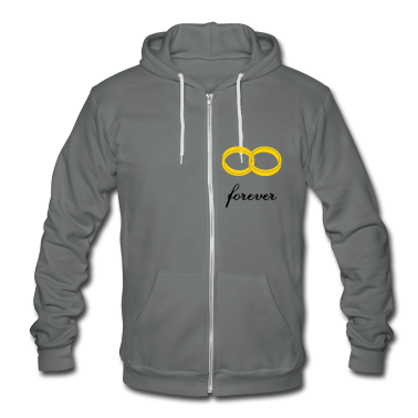 wedding rings forever Zip Hoodies & Jackets