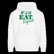 Hoodies ~ Men's Hoodie ~ Run Eat Repeat sweatshirt male