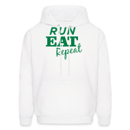 Hoodies ~ Men's Hoodie ~ Run Eat Repeat sweatshirt male