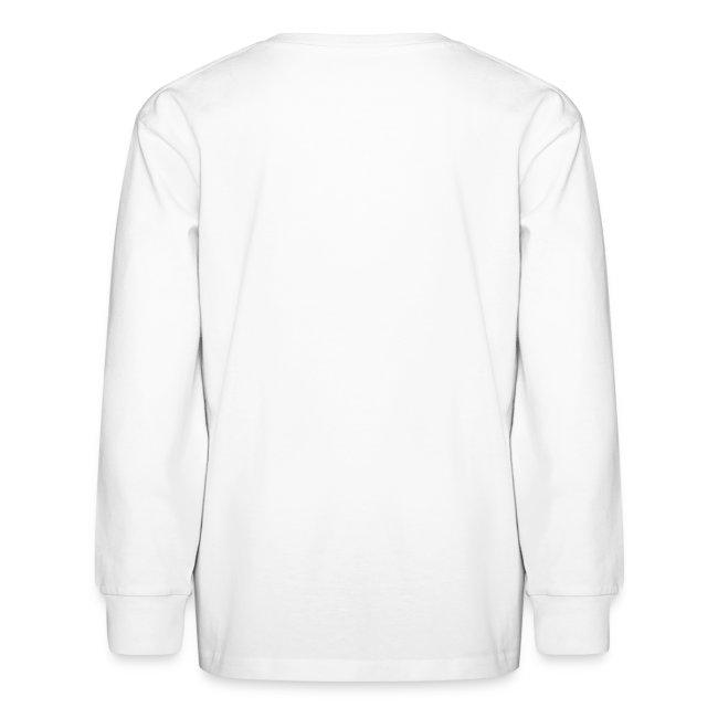 Cat Face Kids Long Sleeve Shirt