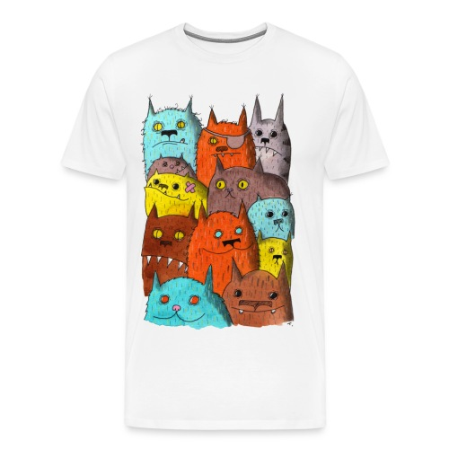 The Cats of Meow Fitted Tee - Men's Premium T-Shirt